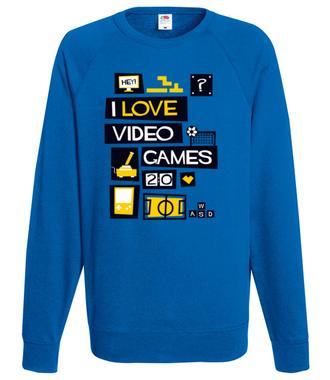 Miłośnik gier komputerowych - Bluza z nadrukiem - dla Gracza - Męska