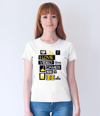 Miłośnik gier komputerowych - Koszulka z nadrukiem - dla Gracza - Damska