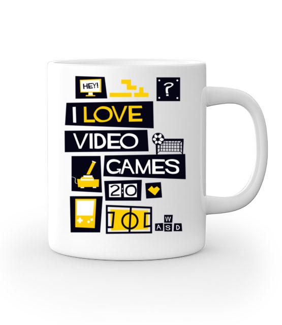 Milosnik gier komputerowych kubek z nadrukiem dla gracza gadzety werprint 544 159