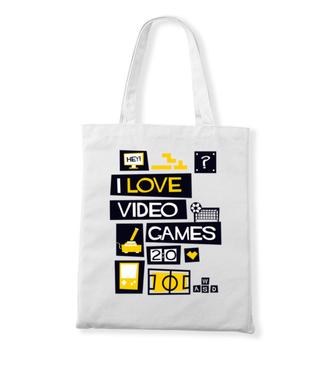 Miłośnik gier komputerowych - Torba z nadrukiem - dla Gracza - Gadżety