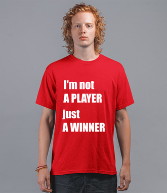Jestem zwycięzcą, nie tylko graczem - Koszulka z nadrukiem - dla Gracza - Męska