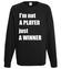 Jestem zwyciezca nie tylko graczem bluza z nadrukiem dla gracza mezczyzna werprint 563 107
