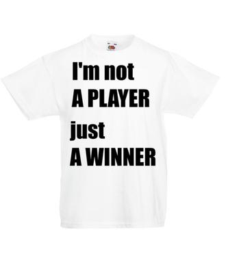 Jestem zwycięzcą, nie tylko graczem - Koszulka z nadrukiem - dla Gracza - Dziecięca