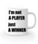 Jestem zwyciezca nie tylko graczem kubek z nadrukiem dla gracza gadzety werprint 562 159