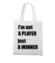 Jestem zwyciezca nie tylko graczem torba z nadrukiem dla gracza gadzety werprint 562 161