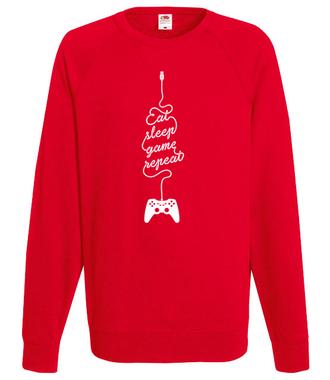 Jeść, grać, spać… - Bluza z nadrukiem - dla Gracza - Męska
