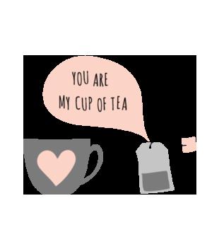 Para idealna kubek i herbata grafika na koszulke damska 588