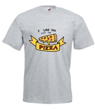 Kocham Cię bardziej niż... - Koszulka z nadrukiem - na Walentynki - Męska