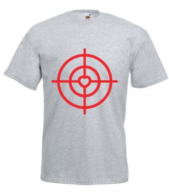 Strzelić prosto w serce - Koszulka z nadrukiem - na Walentynki - Męska