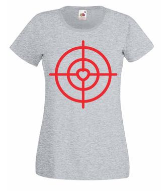 Strzelić prosto w serce - Koszulka z nadrukiem - na Walentynki - Damska