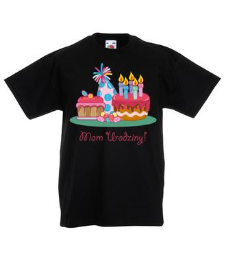 Mam urodziny! - Koszulka z nadrukiem - Urodzinowe - Dziecięca