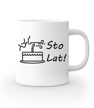 Sto lat! Zdmuchnij świeczki! - Kubek z nadrukiem - Urodzinowe - Gadżety