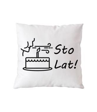 Sto lat! Zdmuchnij świeczki! - Poduszka z nadrukiem - Urodzinowe - Gadżety