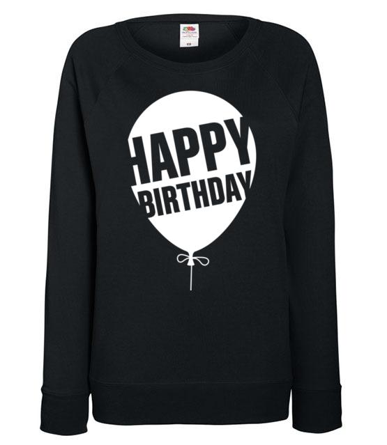 Najlepszego kochany bluza z nadrukiem urodzinowe kobieta werprint 615 115