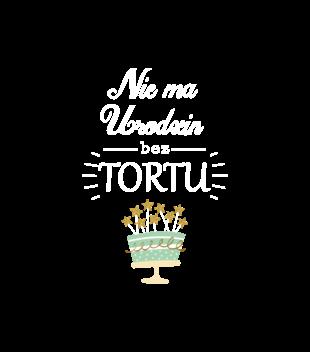 Nie ma urodzin bez tortu grafika na bluze z kapturem meska 619