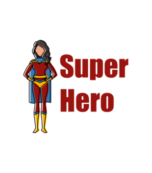 Kobiecy superbohater grafika na koszulke meska 653