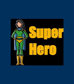 Kobiecy superbohater grafika na koszulke meska 654