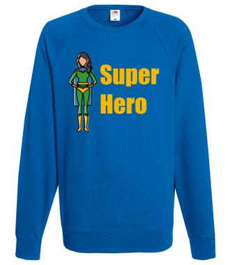Kobiecy superbohater - Bluza z nadrukiem - Filmy i seriale - Męska