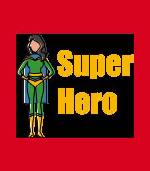 Kobiecy superbohater grafika na bluze meska 654