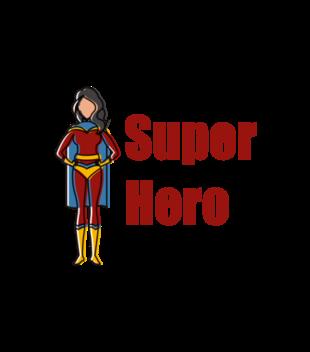 Kobiecy superbohater grafika na koszulke dziecieca 653