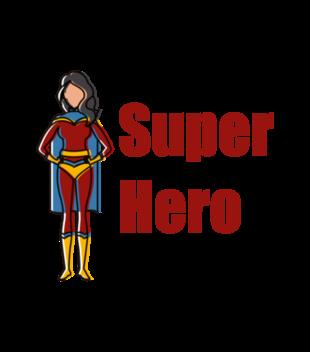 Kobiecy superbohater grafika na torbe 653