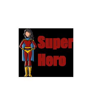 Kobiecy superbohater grafika na poduszke 653