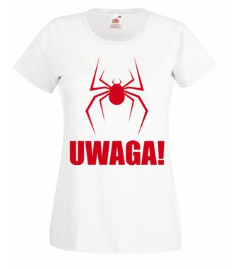 Uwaga na pająki - Koszulka z nadrukiem - Filmy i seriale - Damska