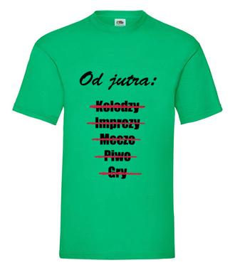 Od jutra szlaban na życie - Koszulka z nadrukiem - Wieczór kawalerski - Męska