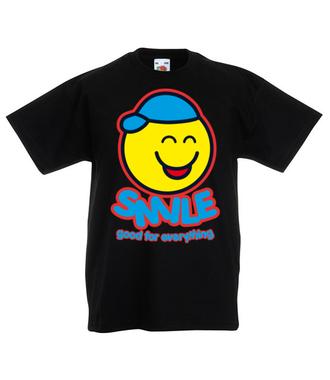 Bo uśmiech jest dobry na wszystko - Koszulka z nadrukiem - Śmieszne - Dziecięca