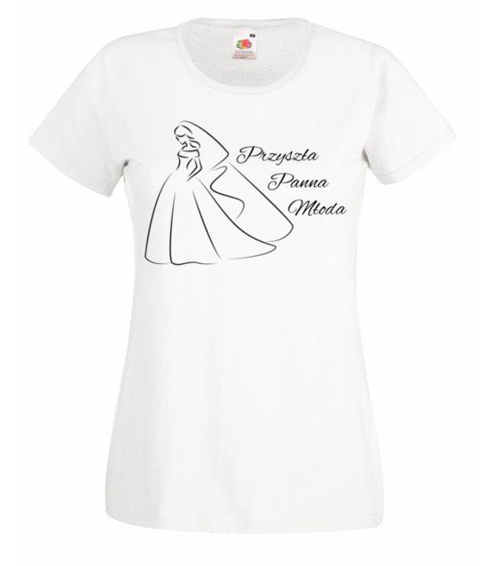 Przyszla panna mloda koszulka z nadrukiem wieczor panienski kobieta werprint 710 58