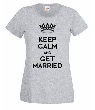 Mój ślub, moje marzenie - Koszulka z nadrukiem - Wieczór panieński - Damska