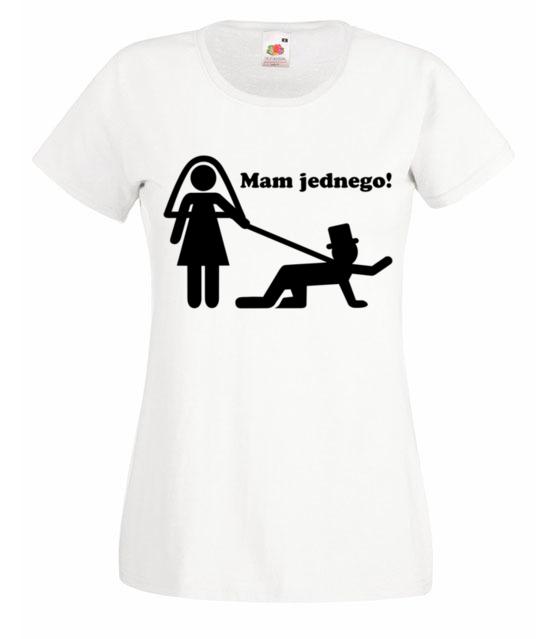 Dziewczyny zlapalam jednego koszulka z nadrukiem wieczor panienski kobieta werprint 717 58