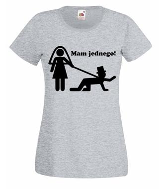 Dziewczyny, złapałam jednego! - Koszulka z nadrukiem - Wieczór panieński - Damska