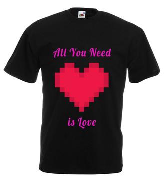 All you need is love - Koszulka z nadrukiem - na Walentynki - Męska