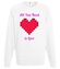 All you need is love bluza z nadrukiem na walentynki mezczyzna werprint 743 106
