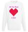 All you need is love bluza z nadrukiem na walentynki mezczyzna werprint 743 106