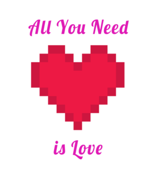 All you need is love grafika na koszulke damska 743