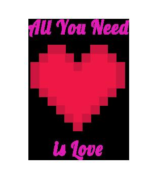 All you need is love grafika na koszulke damska 743