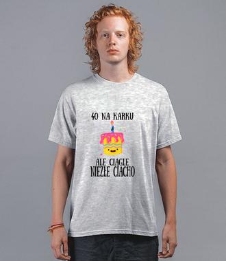 Czterdziestoletnie ciasteczko - Koszulka z nadrukiem - Urodzinowe - Męska