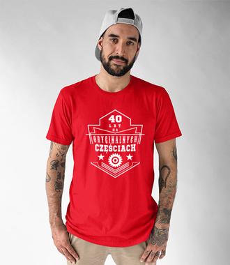 Na oryginalnych częściach bez szwanku - Koszulka z nadrukiem - Urodzinowe - Męska
