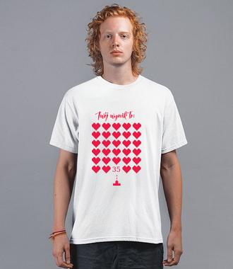 To Twój wynik. - Koszulka z nadrukiem - Urodzinowe - Męska