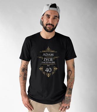 Kolejne urodziny - życie przyspiesza - Koszulka z nadrukiem - Urodzinowe - Męska