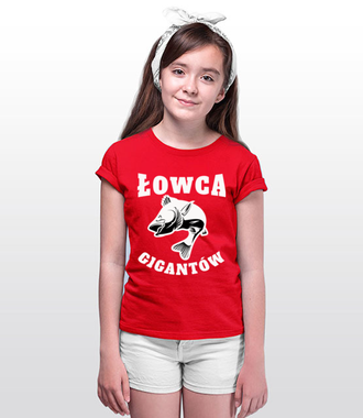 Jestem łowcą gigantów - Koszulka z nadrukiem - Wędkarskie - Dziecięca