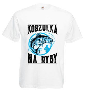 Koszulka na ryby  - Koszulka z nadrukiem - Wędkarskie - Męska