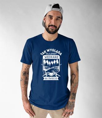 Najlepszy wędkarz na świecie  - Koszulka z nadrukiem - Wędkarskie - Męska