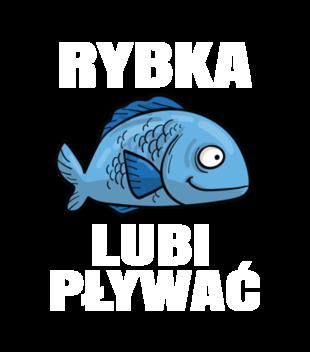 Bo rybka przeciez lubi plywac grafika na koszulke meska 845