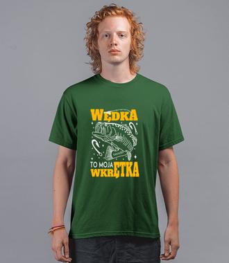 Wędka to moja wkrętka  - Koszulka z nadrukiem - Wędkarskie - Męska