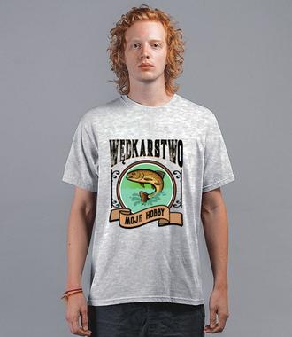 Wędkarstwo moje hobby - Koszulka z nadrukiem - Wędkarskie - Męska