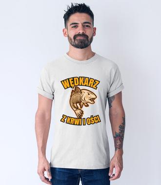 Wędkarz z krwi i ości  - Koszulka z nadrukiem - Wędkarskie - Męska