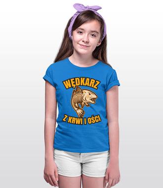 Wędkarz z krwi i ości  - Koszulka z nadrukiem - Wędkarskie - Dziecięca